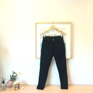 Big blue black skinny jeans